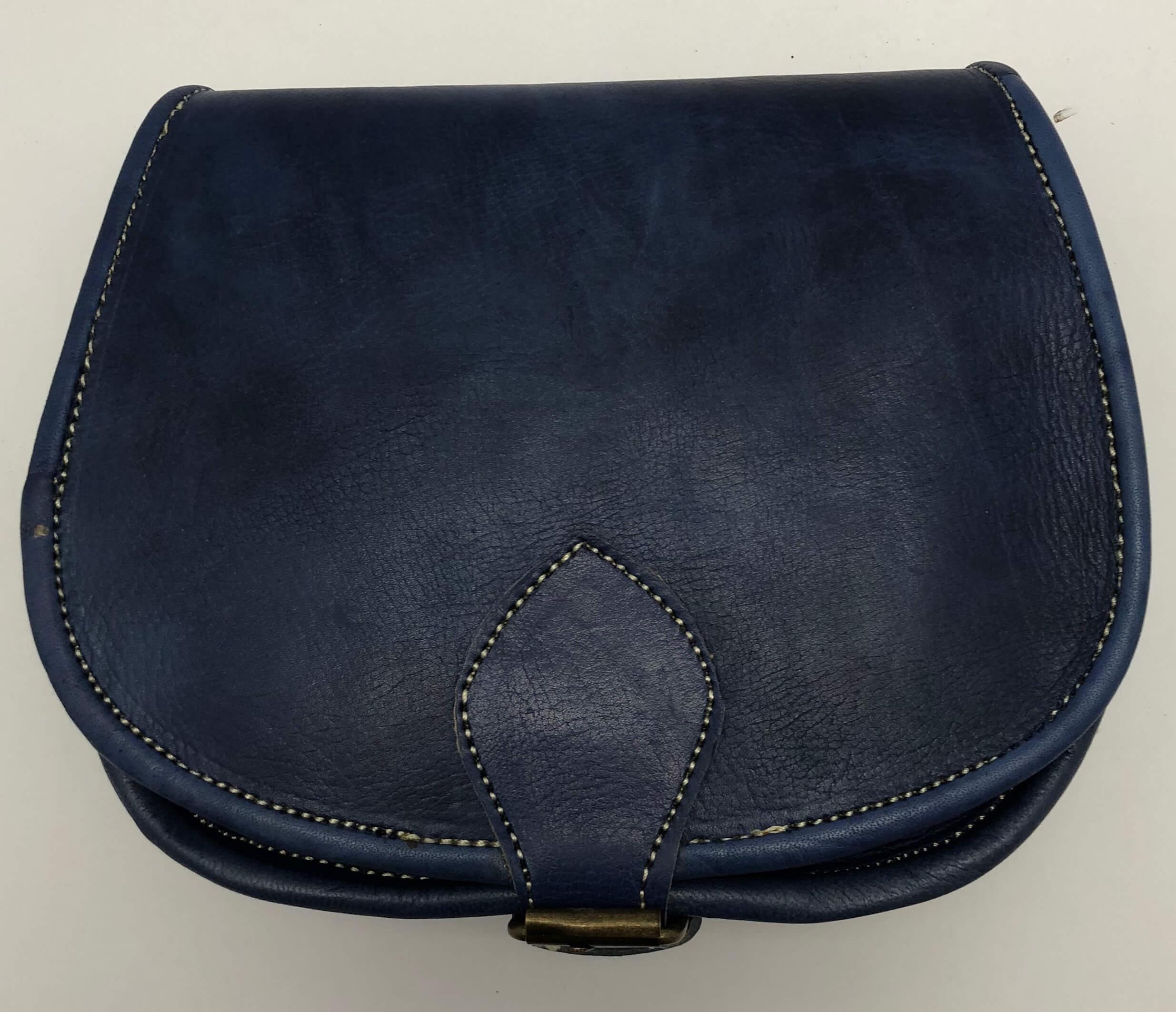 Kožená kabelka lovecká malá modrá 98be887b6fe